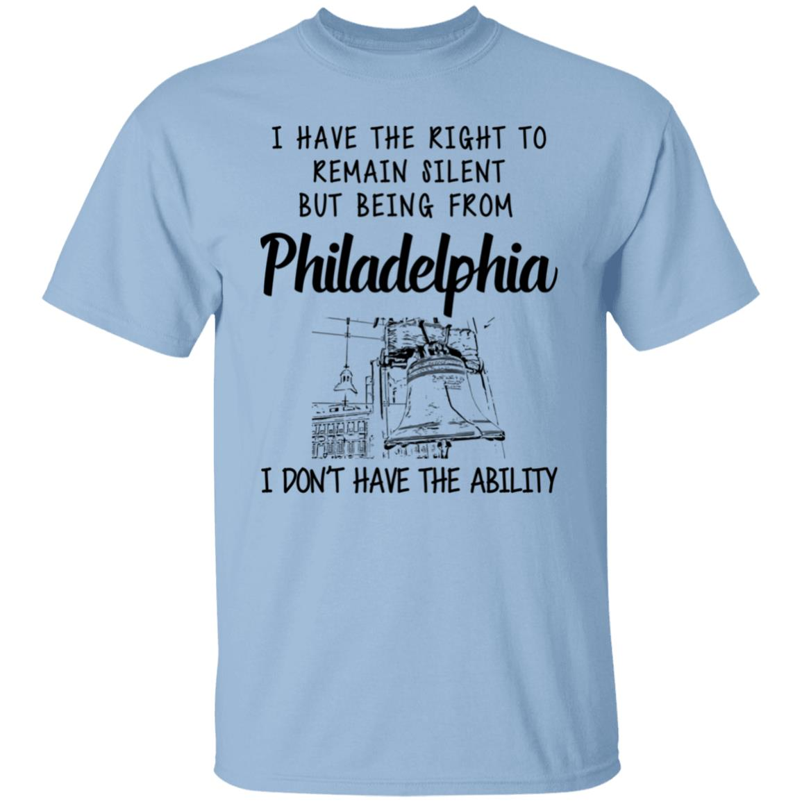 I HAVE THE RIGHT TO REMAIN SILENT BUT BEING FROM PHILADELPHIA