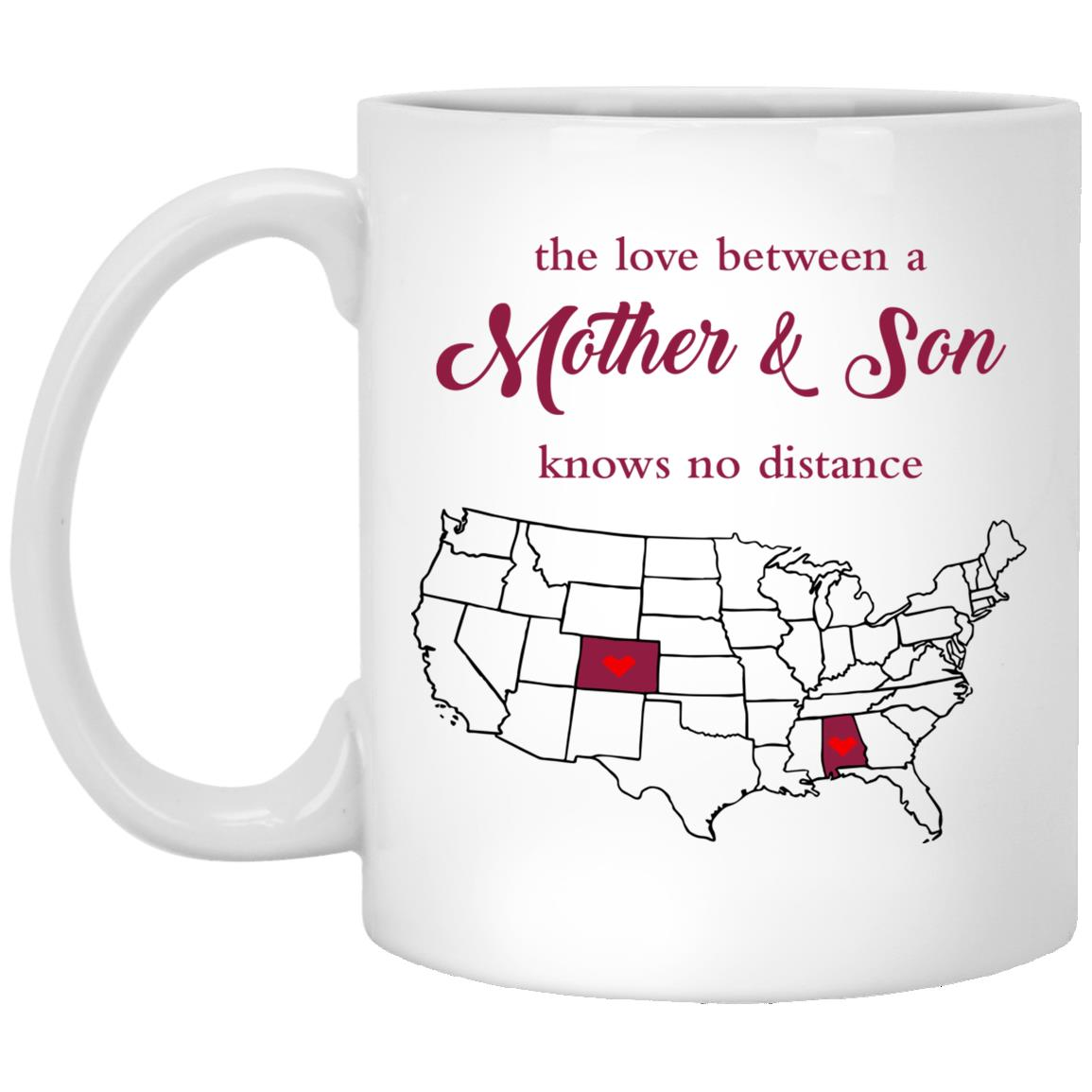Colorado Alabama The Love Between Mother And Son Mug