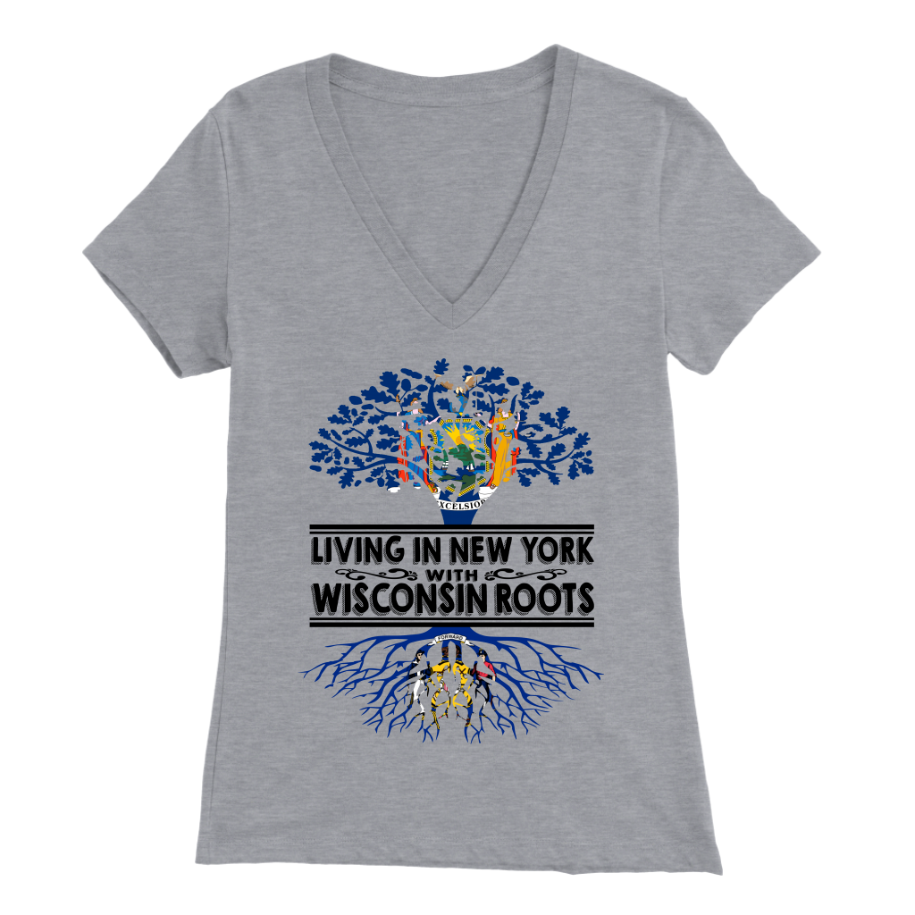 Living In New York With Wisconsin Roots T-shirt.