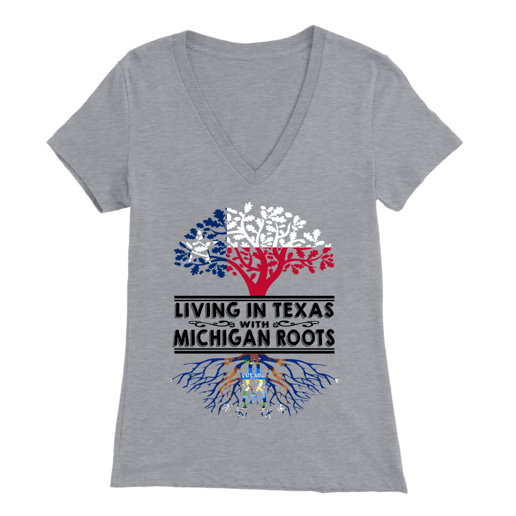 Living In Texas With Michigan Roots T-shirt