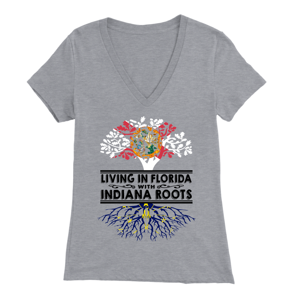 Living In Florida With Indiana Roots T- Shirt