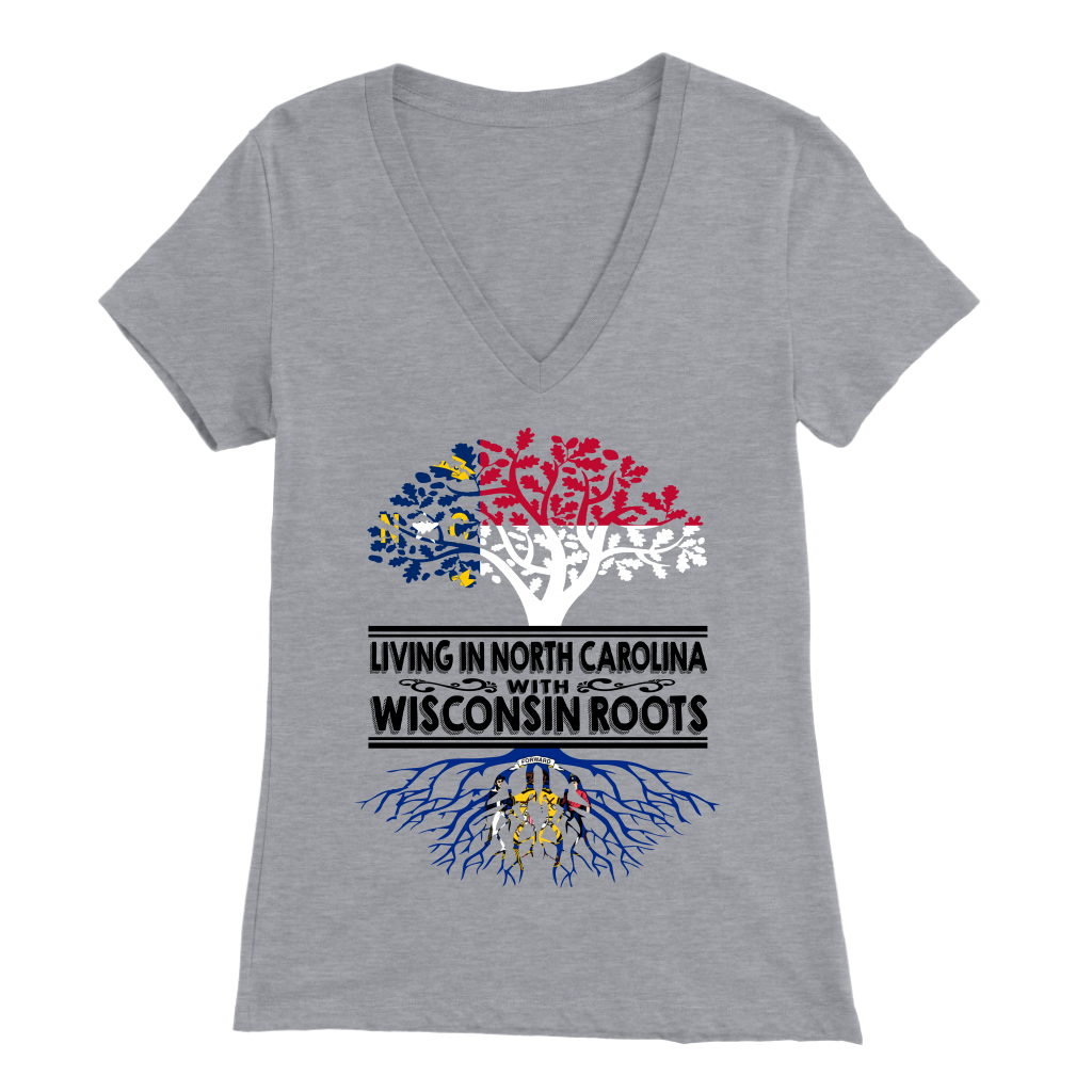 Living In North Carolina With Wisconsin Roots T-shirt