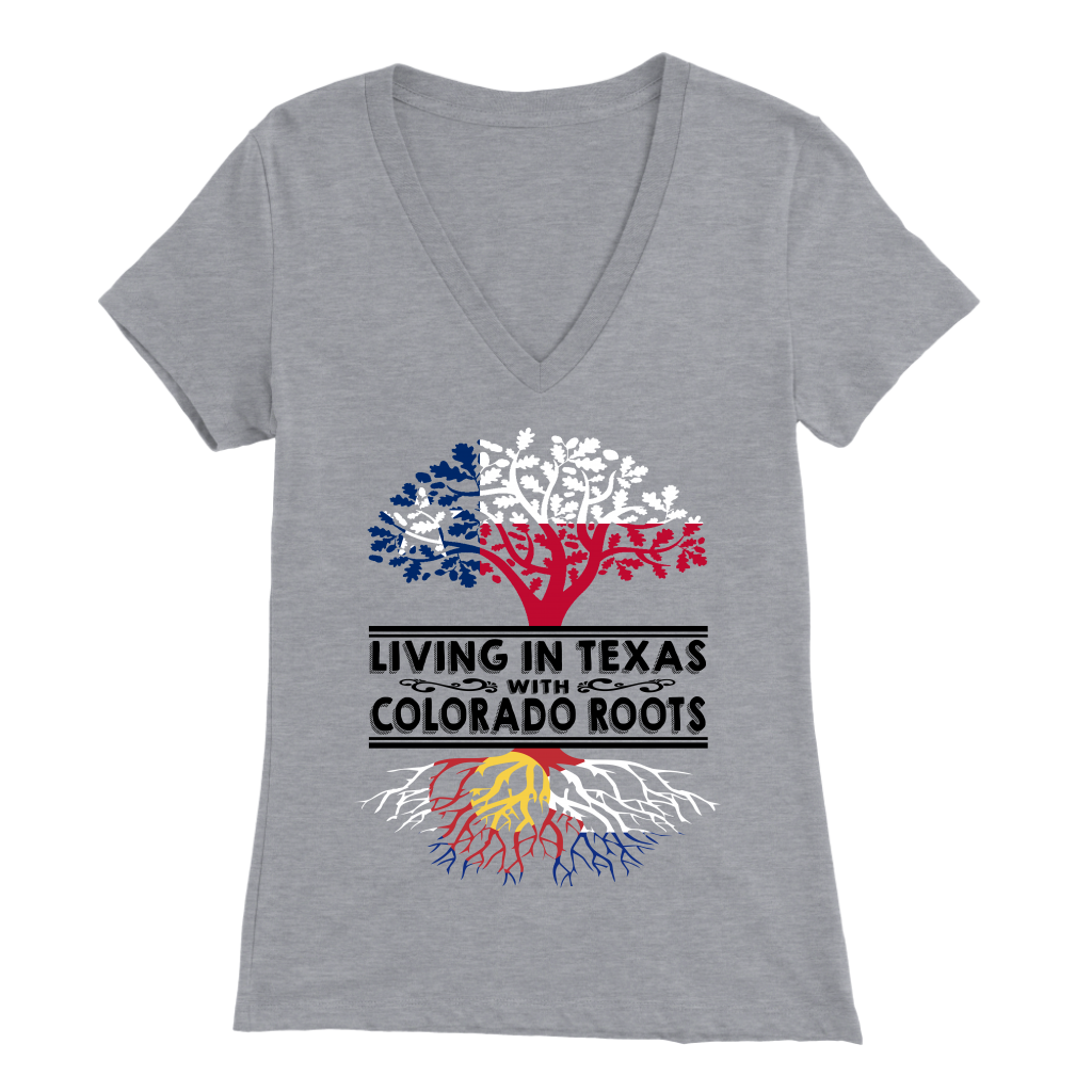 68312143f LIVING IN TEXAS WITH COLORADO ROOTS - Teezalo LLC