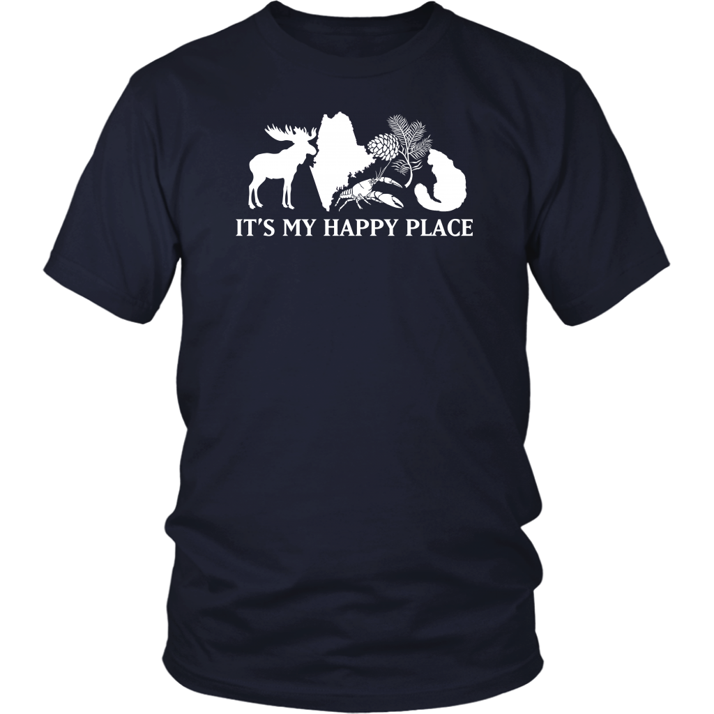 Maine It's My Happy Place T-shirt