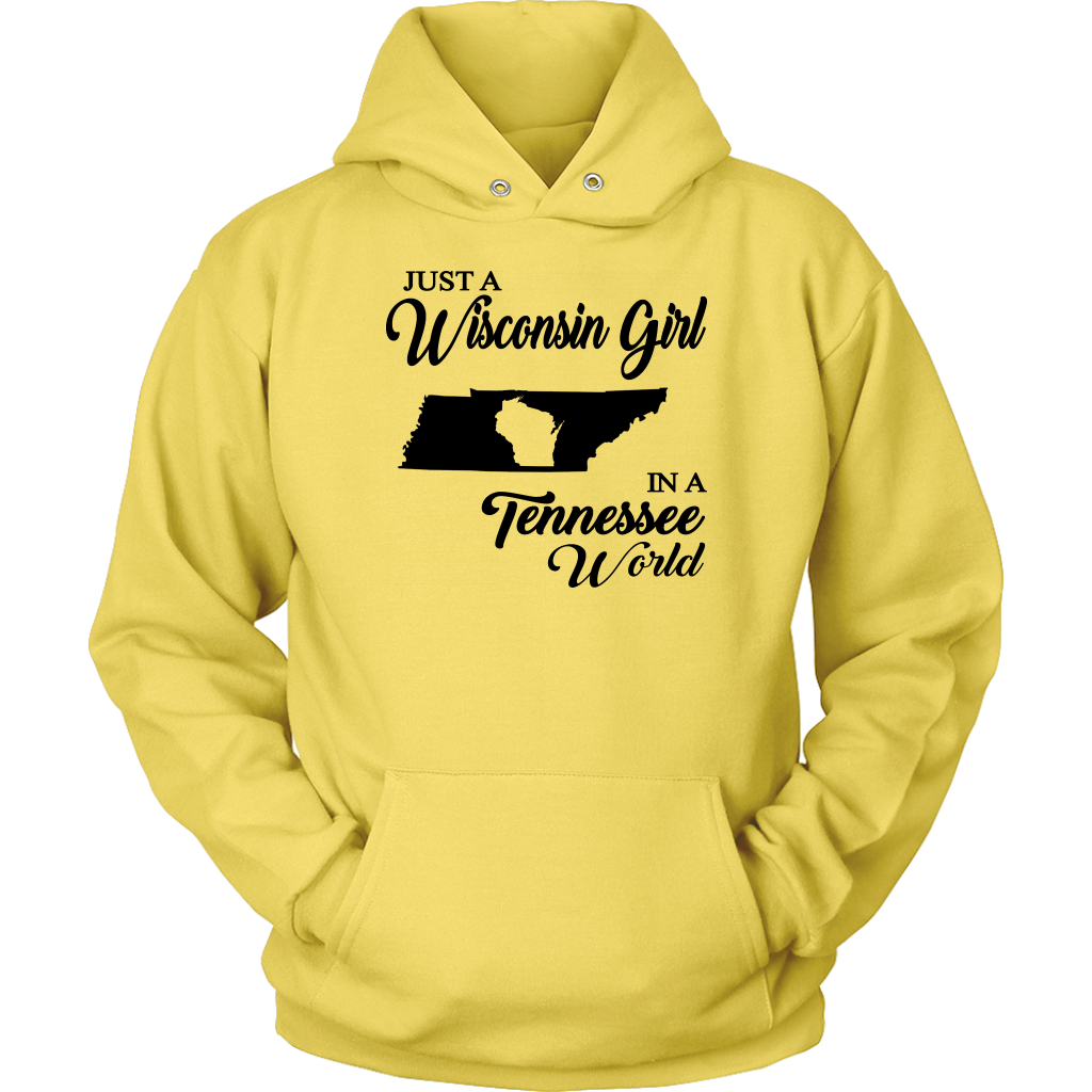Just A Wisconsin Girl In A Tennessee World T-shirt