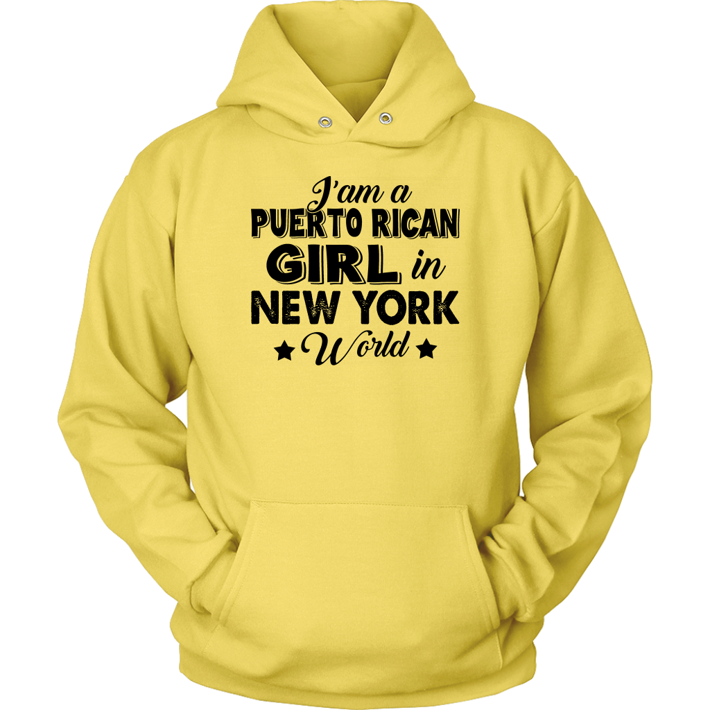 I Am A Puerto Rican Girl In New York World T Shirt