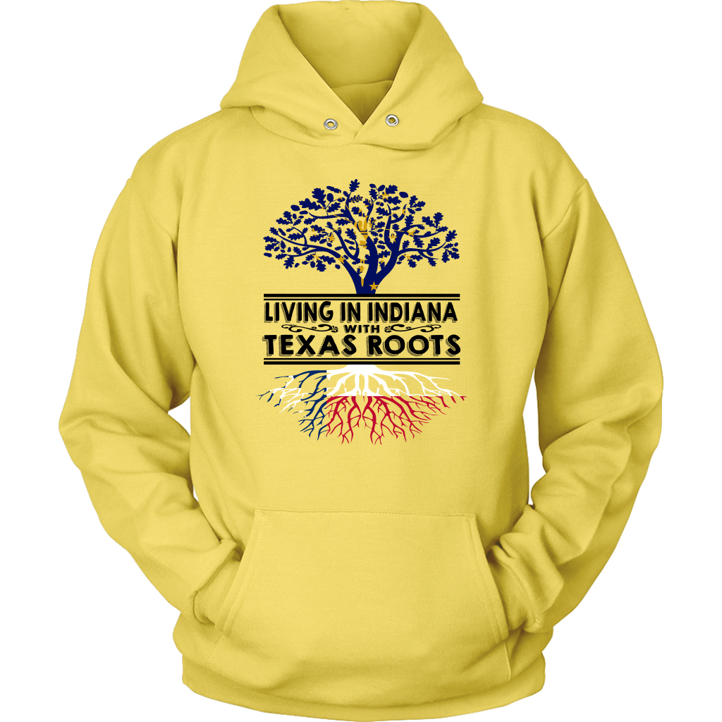 Living In Indiana With Texas Roots T- Shirt
