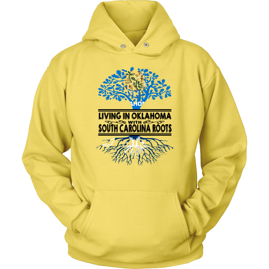 Living In Oklahoma With South Carolina Roots T Shirt
