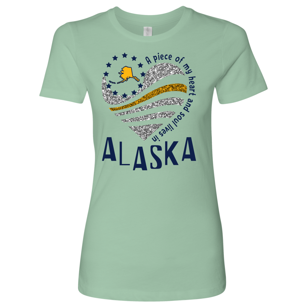 A Piece Of My Heart And Soul Lives In Alaska T-Shirt