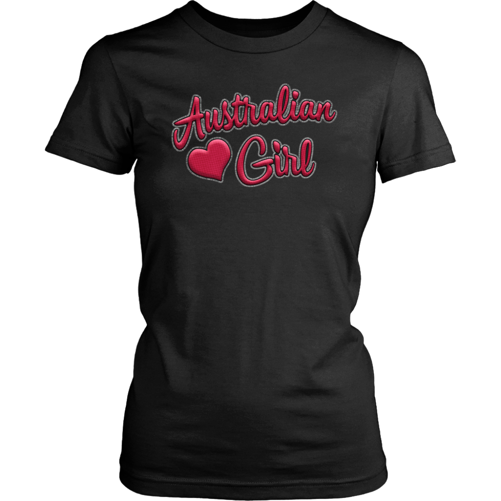 Australian Girl 3D Text T-shirt