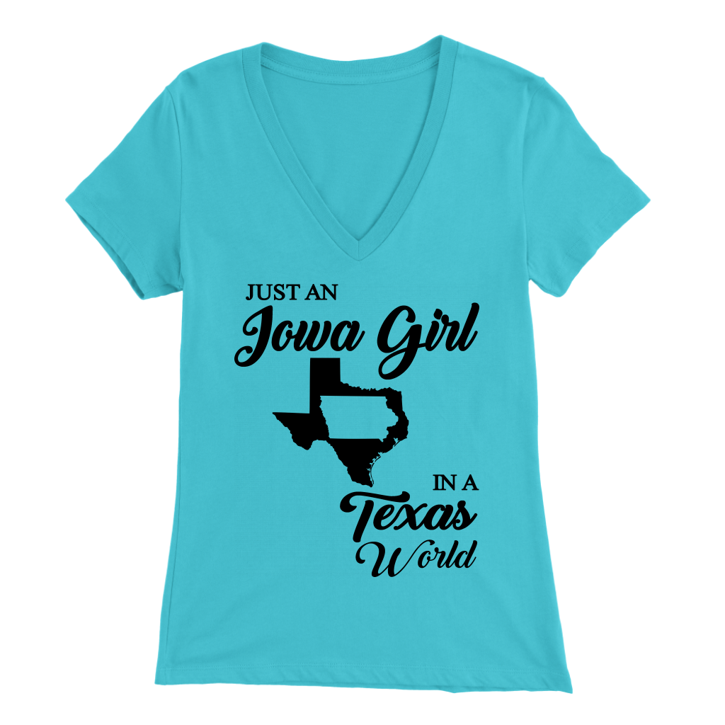 Just An Iowa Girl In A Texas World T- Shirt