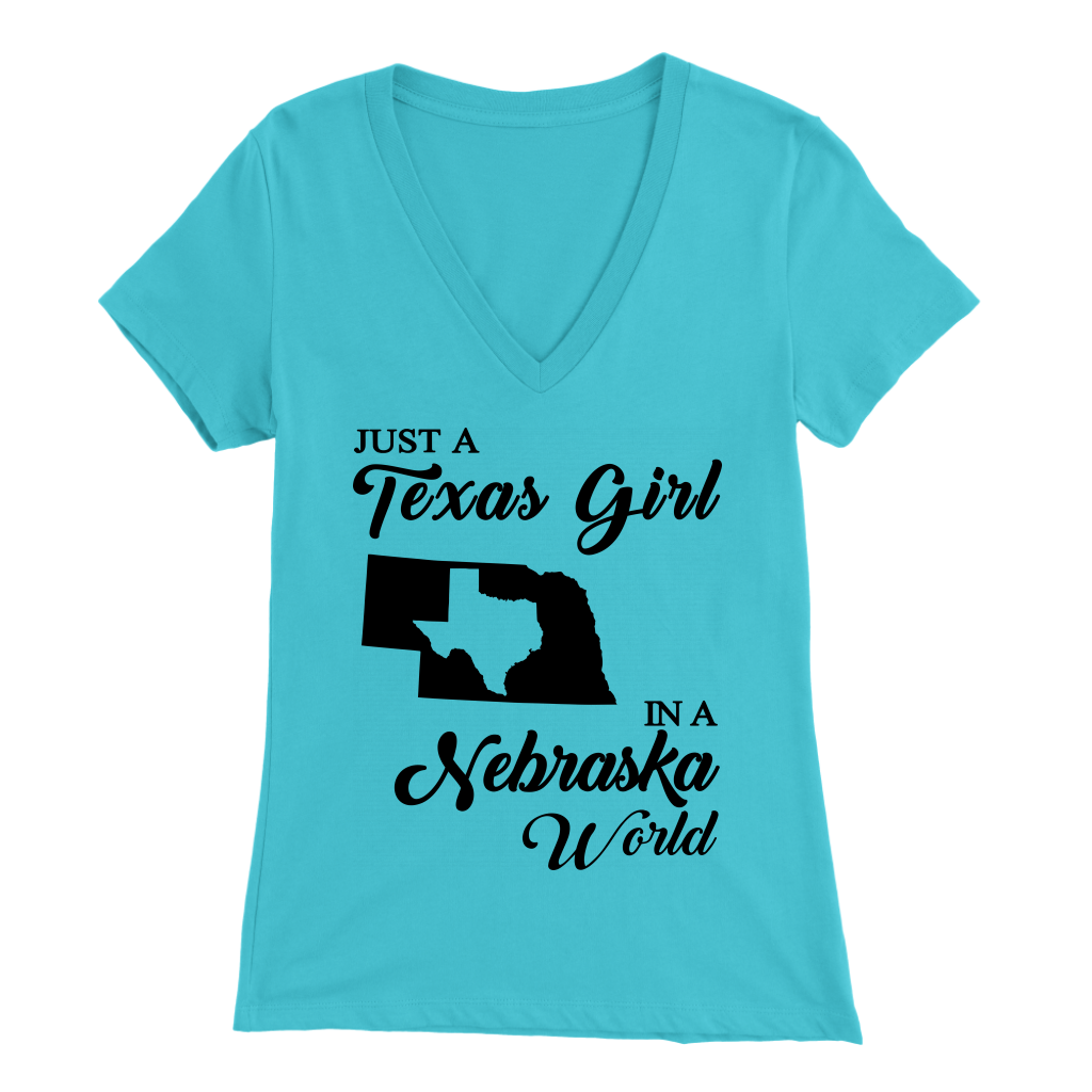Just A Texas Girl In A Nebraska World  T- Shirt