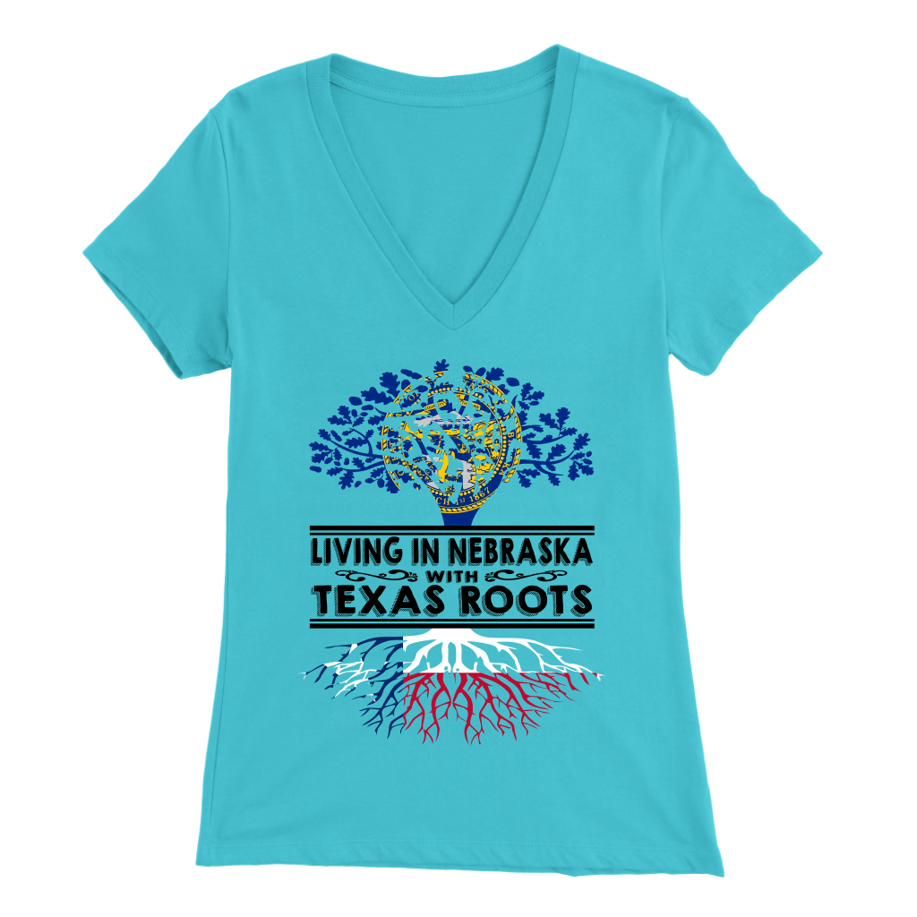 Living In Nebraska With Texas Roots T- Shirt