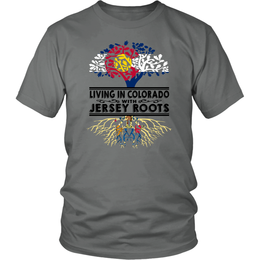 Living In Colorado With Jersey Roots T-Shirt