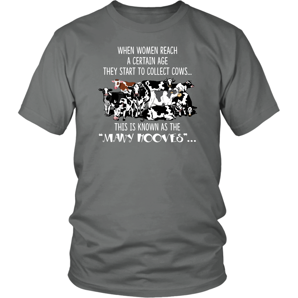 They Start To Collect Cows This Is Know As The Many Hooves T-Shirt