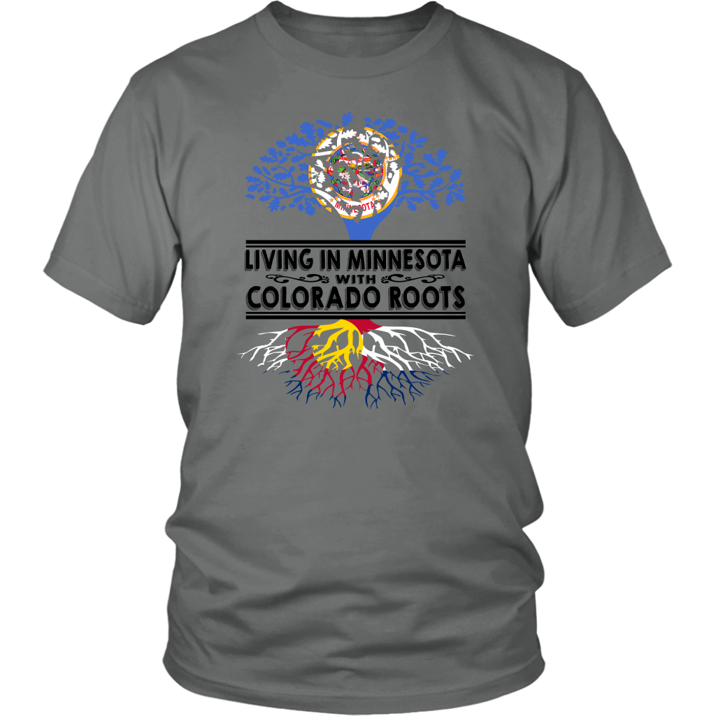 Living In Minnesota With Colorado Roots T-Shirt