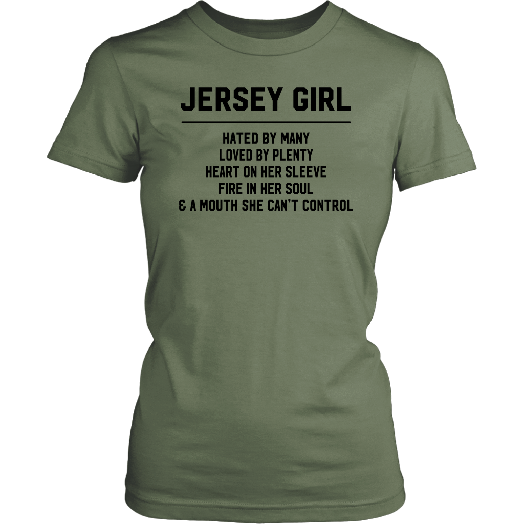 Jersey Girl's Mouth Can't Control T-Shirt