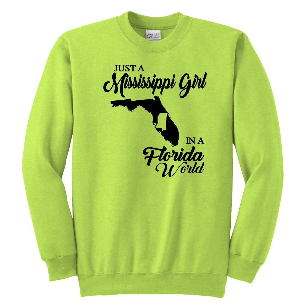Just A Mississippi Girl In A Florida World T-shirt