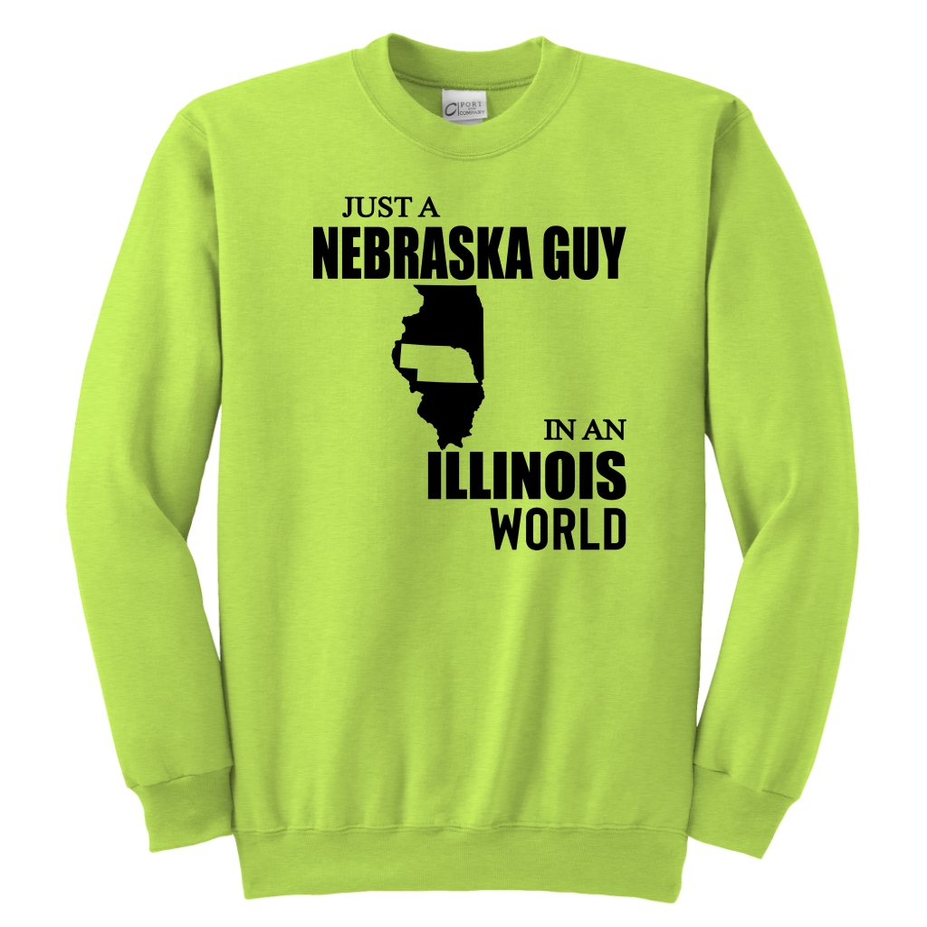 Just A Nebraska Guy In An Illinois World T-shirt
