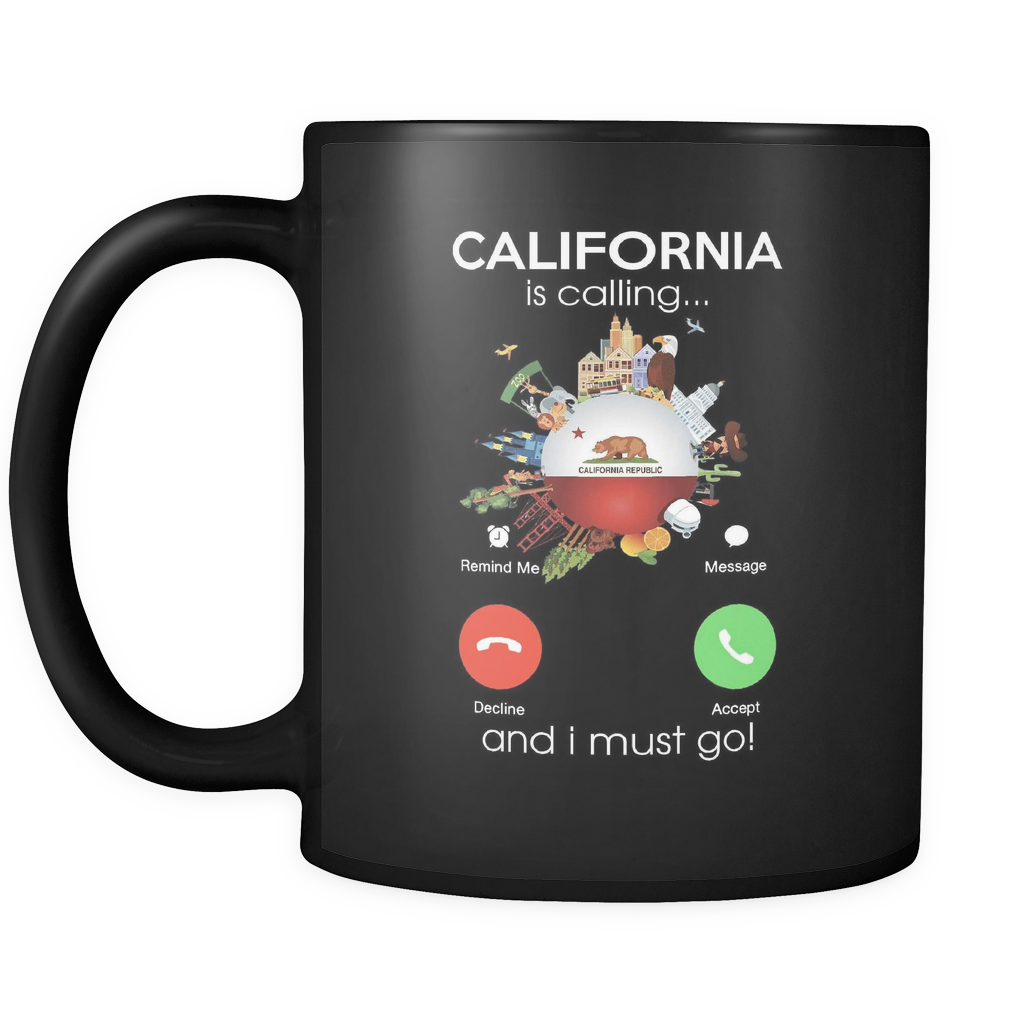 California Is Calling And I Must Go Mug - Drinkware Teezalo LLC