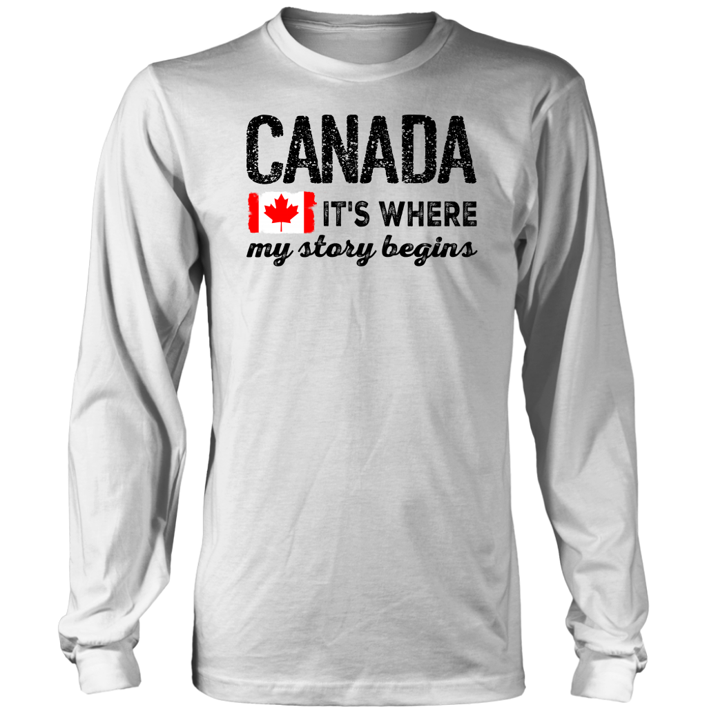 Canada It's Where My Story Begins T-Shirt