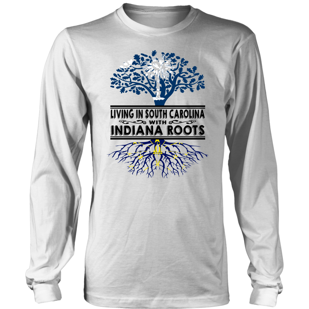 Living In South Carolina With Indiana Roots T- Shirt