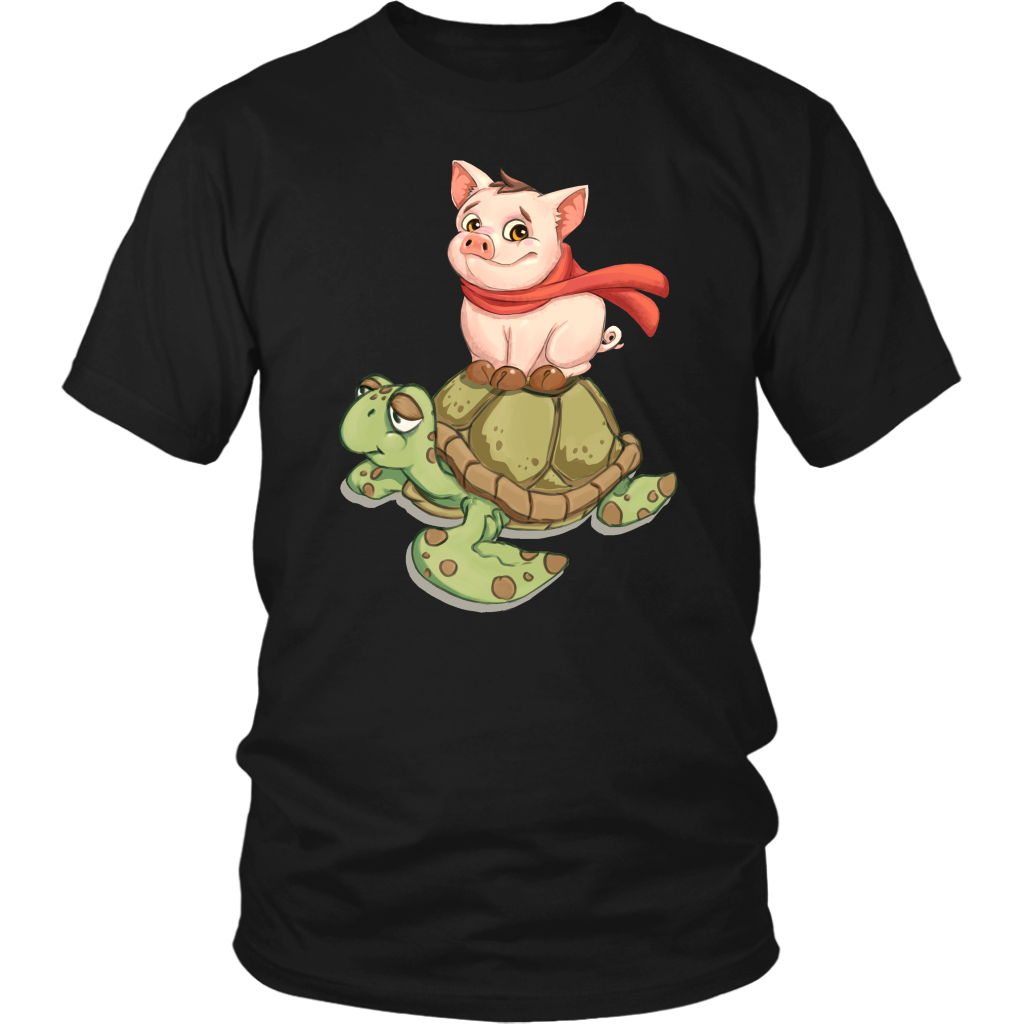 Turtle With Pig T-Shirt