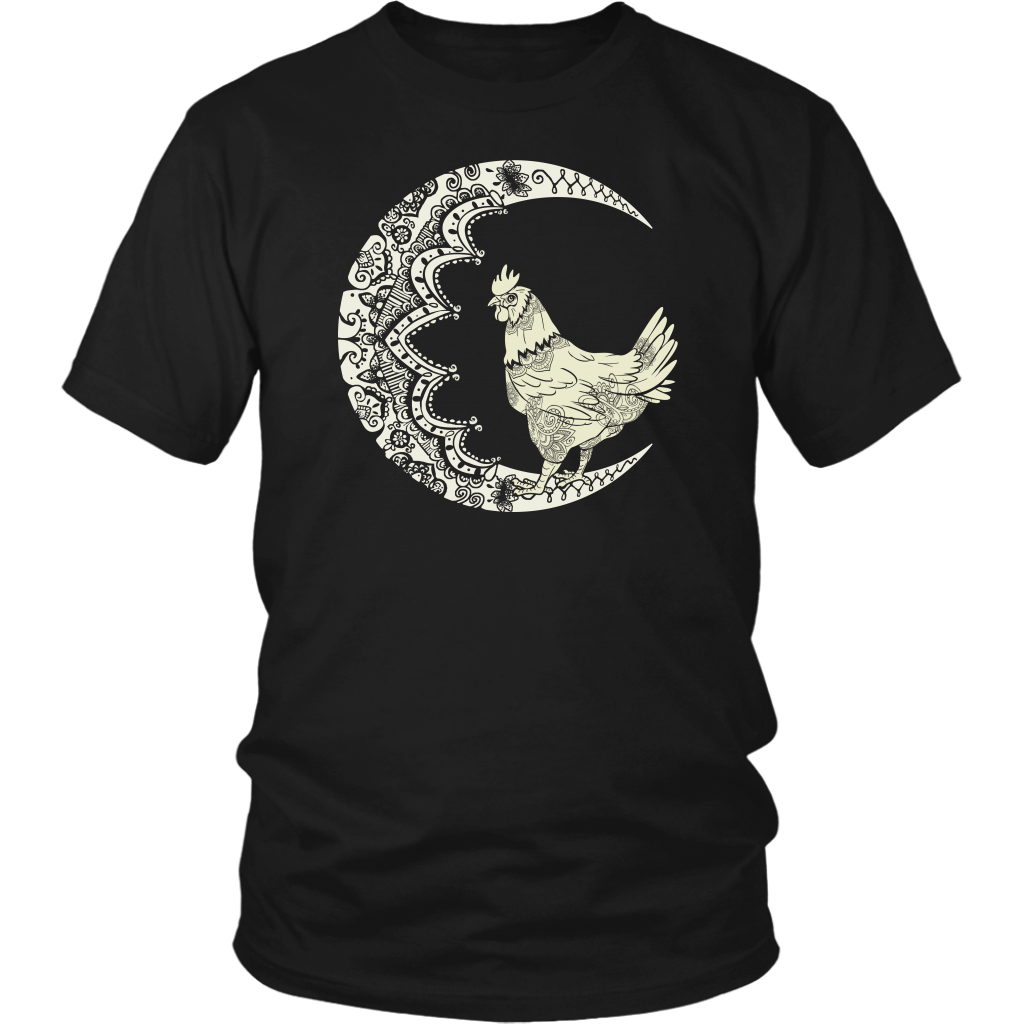 Chicken With The Moon Tattoo T-Shirt
