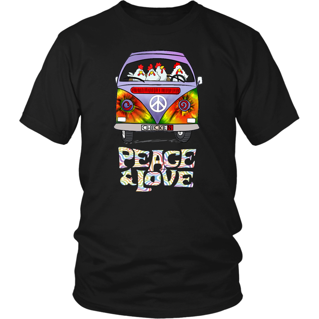 Peace And Love Chicken T-Shirt