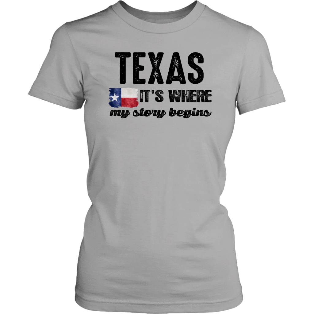 TEXAS. TEXAS IT'S WHERE MY STORY BEGINS - T-shirt Teezalo LLC