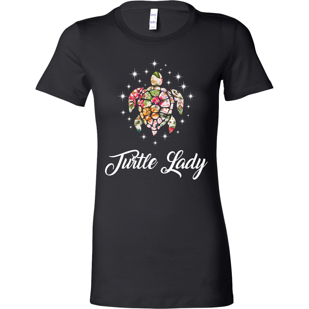 Flowers Turtle Lady T-shirt