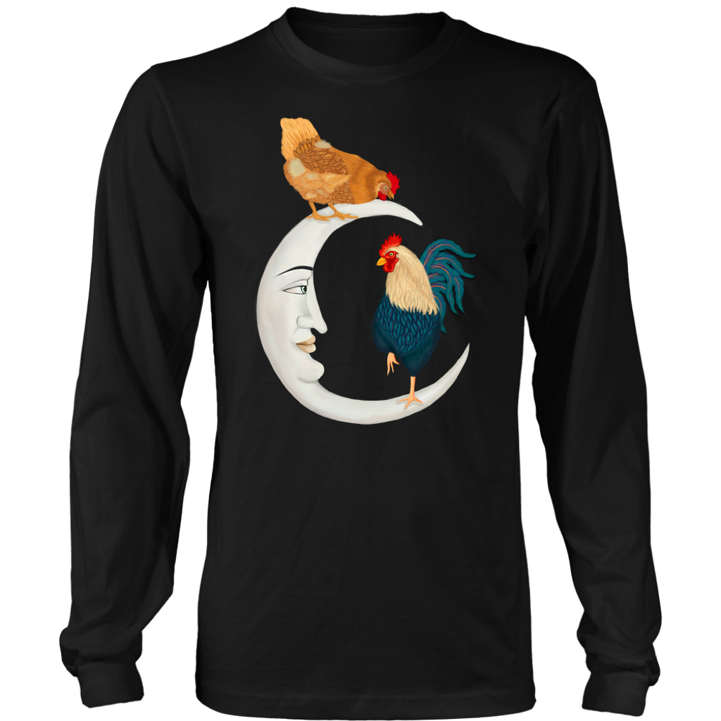 Chickens And Moon T Shirt