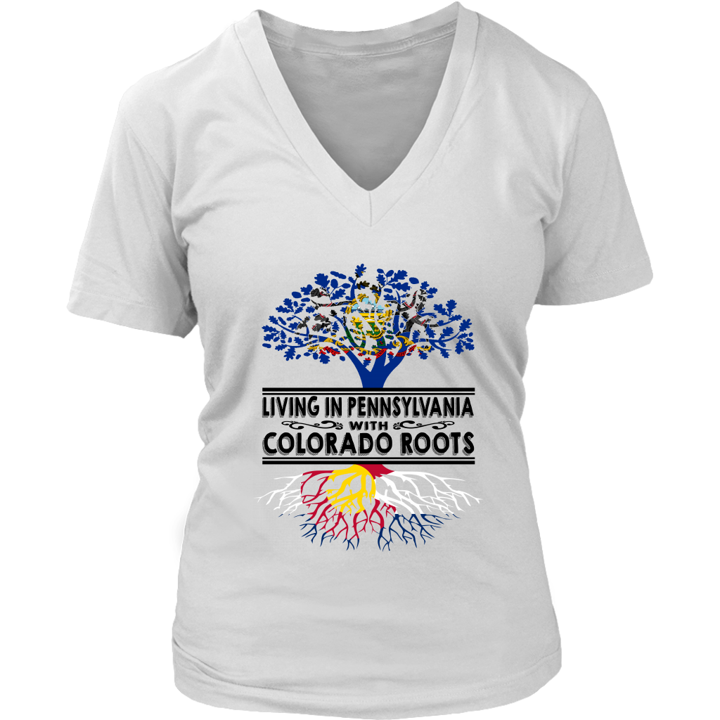 Living In Pennsylvania With Colorado Roots T-Shirt