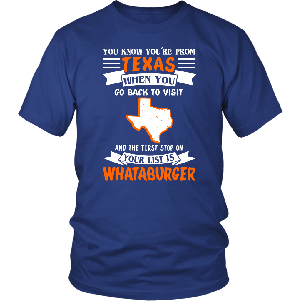 You're From Texas When You Go Back To Visit T- Shirt