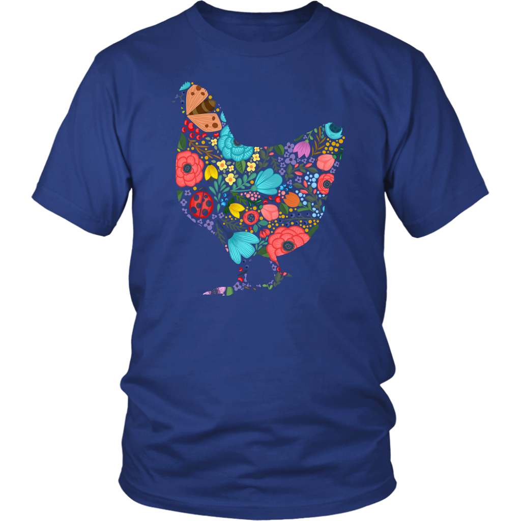 CHICKEN FLOWER - T-shirt Teezalo LLC
