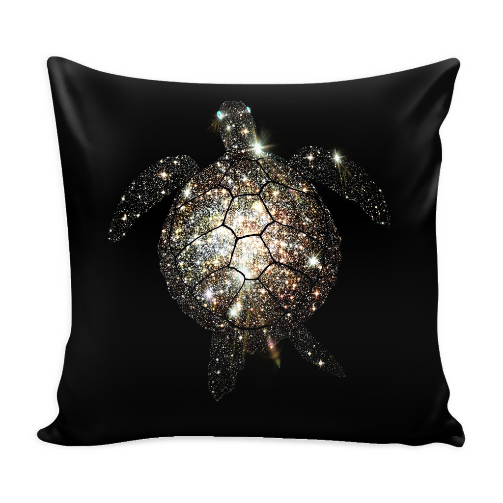 Turtle. Galaxy Turtle Pillow Cover - Pillows Teezalo LLC