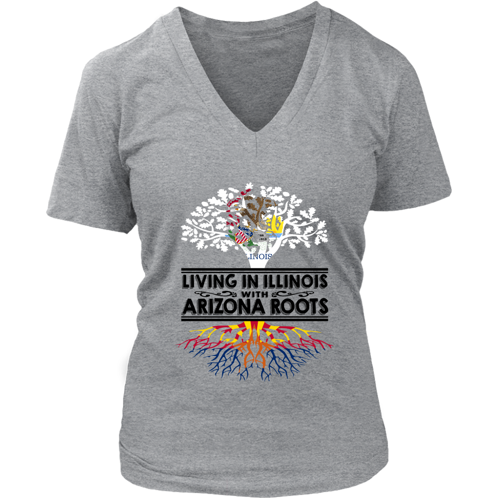 Living In Illinois With Arizona Roots T-Shirt