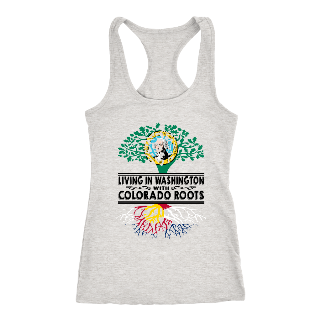Living In Washington With Colorado Roots T-Shirt