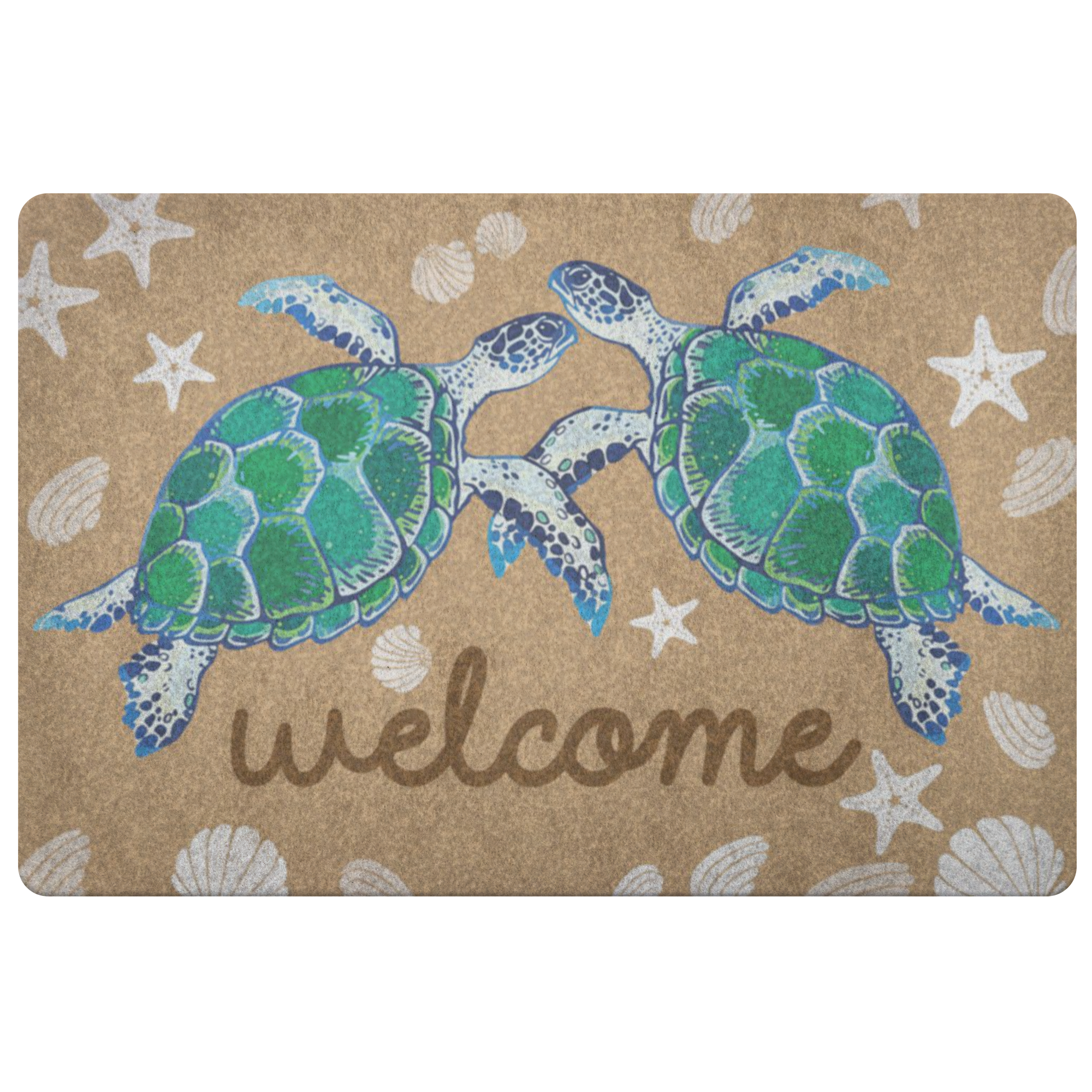 Welcome Turtle Doormat