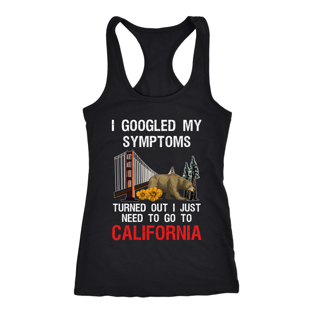 I Googled  I Just Need To Go To California T Shirt