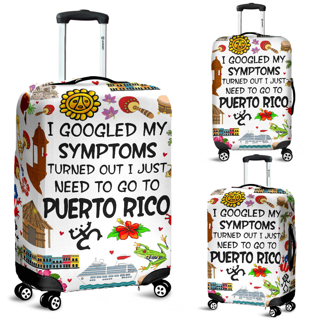 Funny Puerto Rico Luggage Covers Turned Out I Just Need To Go To Puerto Rico
