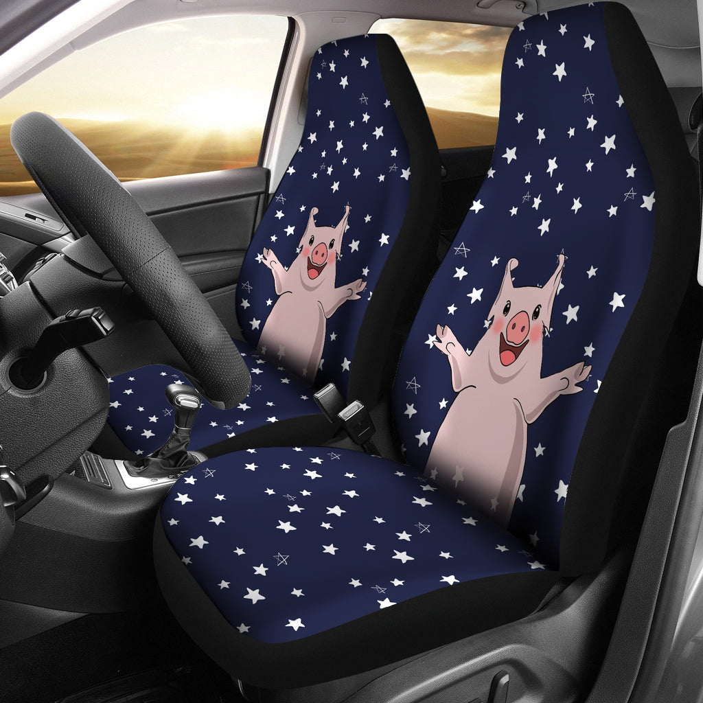 PIG AND STARS CAR SEAT COVERS