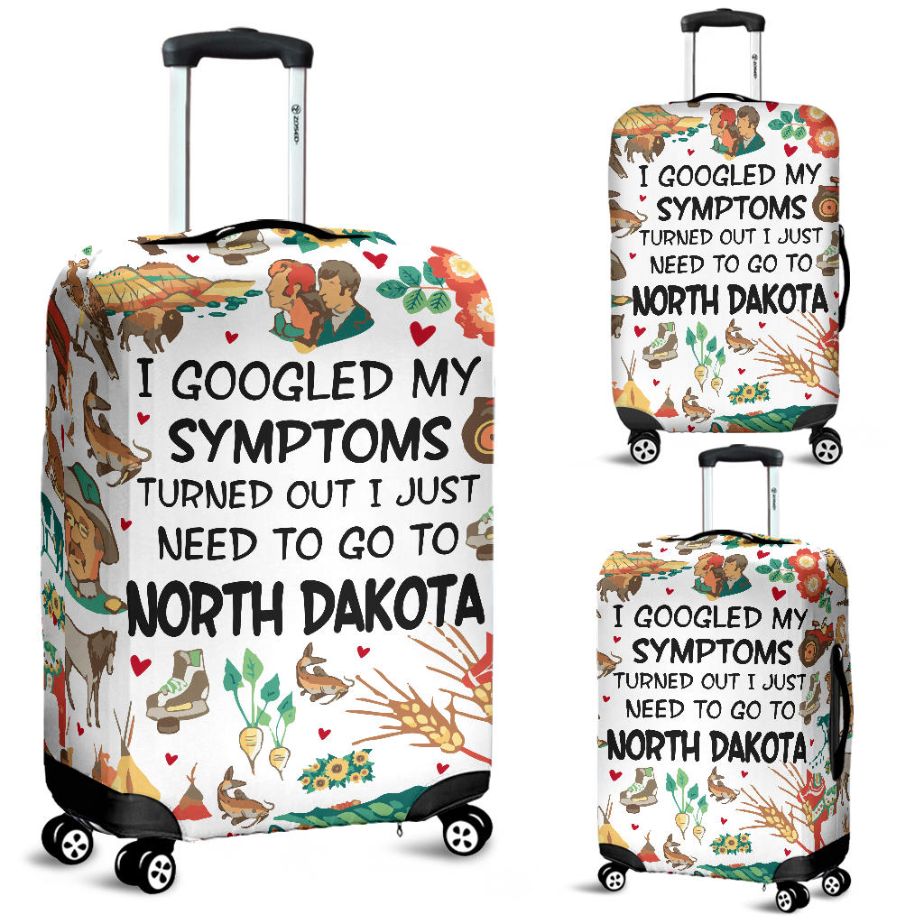 I Just Need To Go To North Dakota Luggage Covers