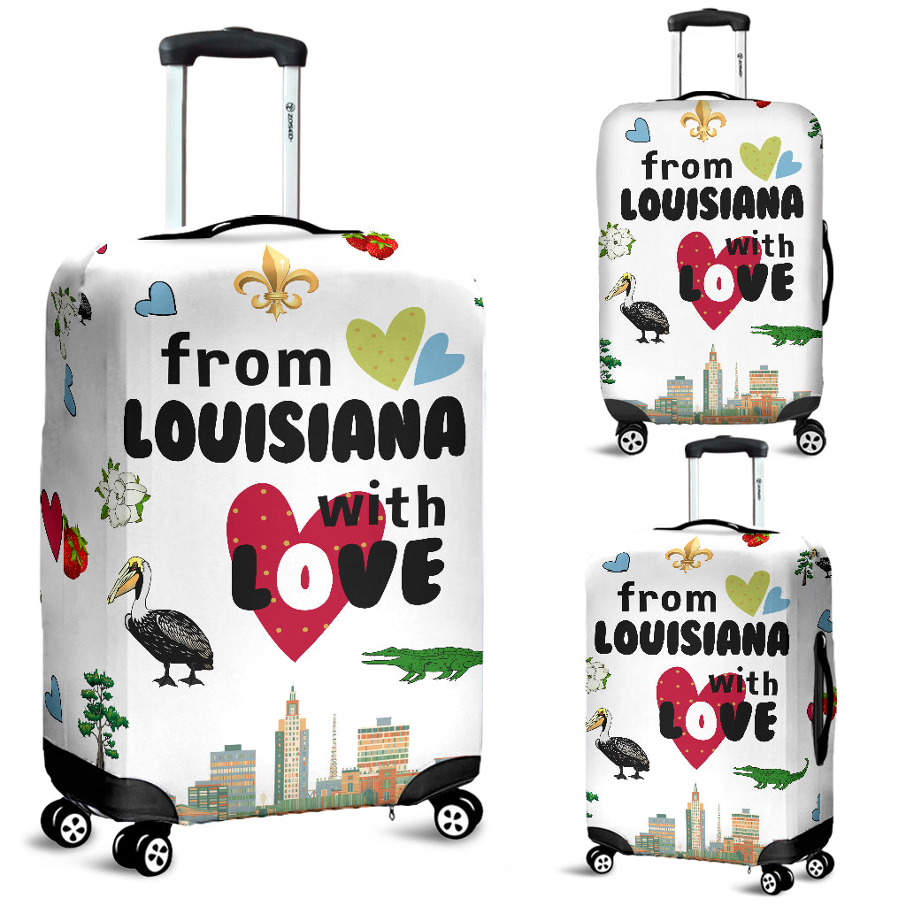 From Louisiana With Love Luggage Covers