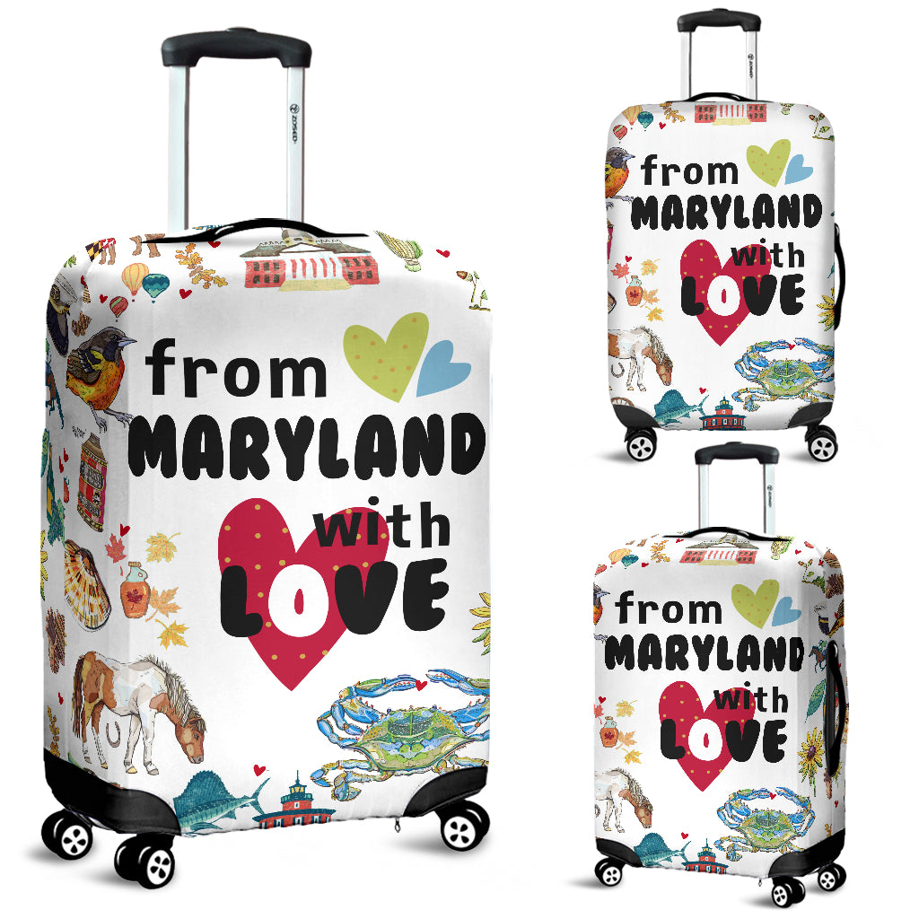 From Maryland With Love Luggage Covers