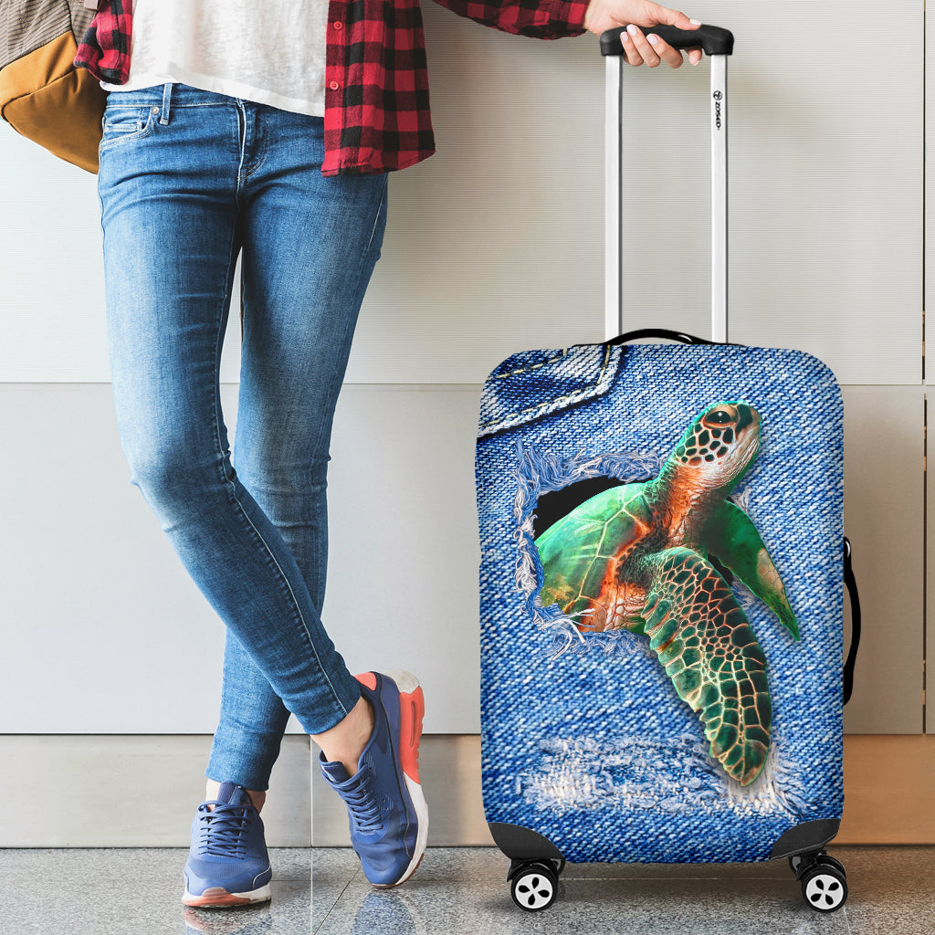 TURTLE LUGGAGE COVER -  Teezalo LLC