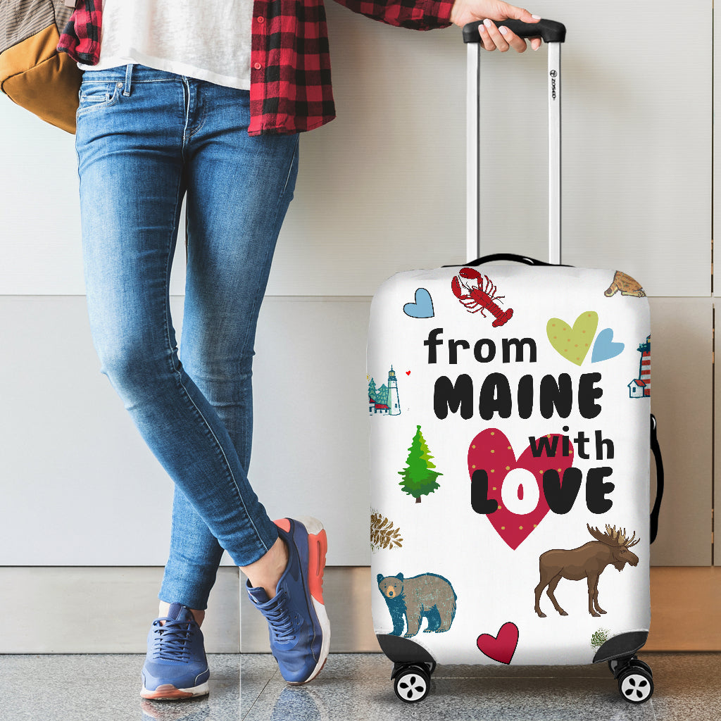 From Maine With Love Luggage Cover