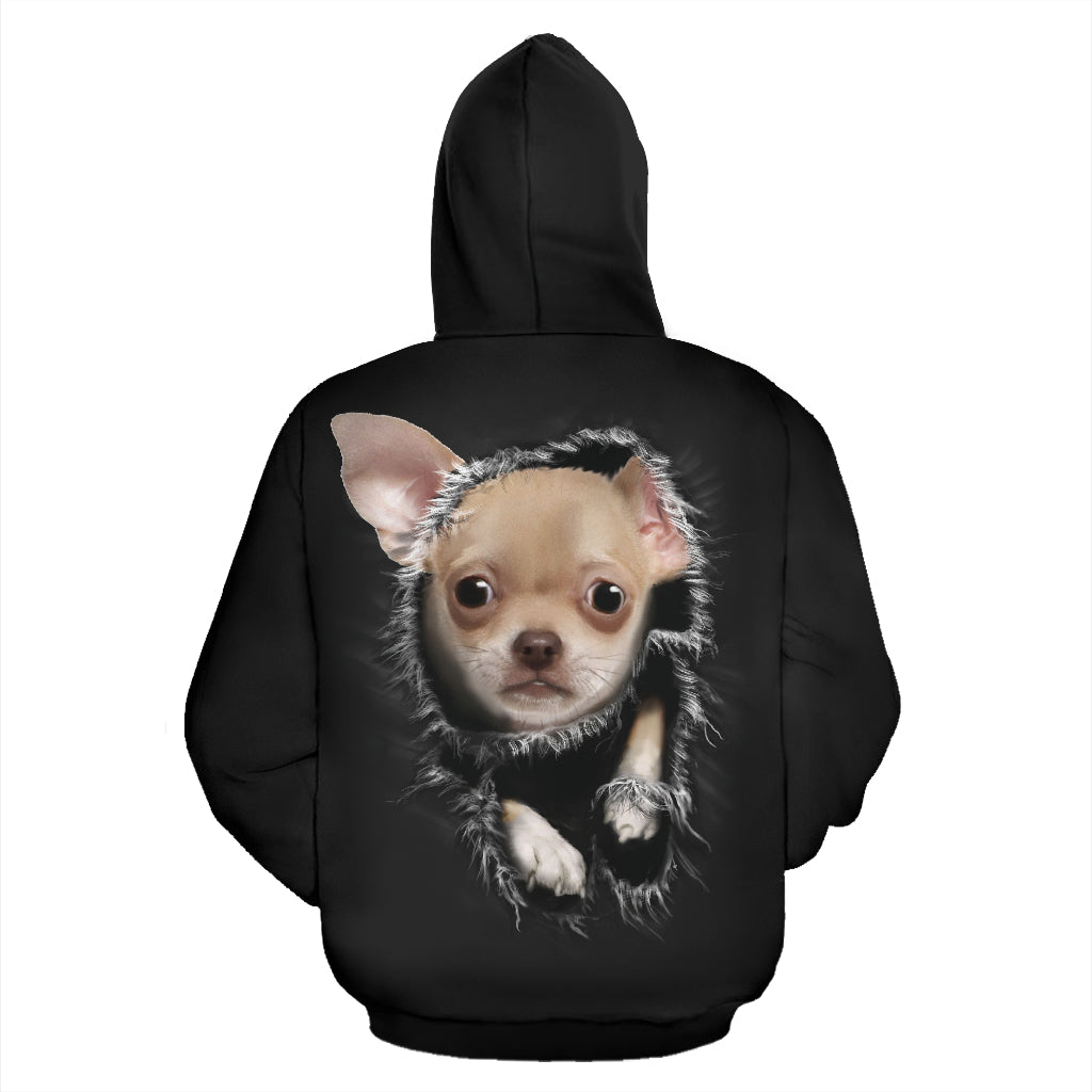 Chihuahua Face All Over Hoodie