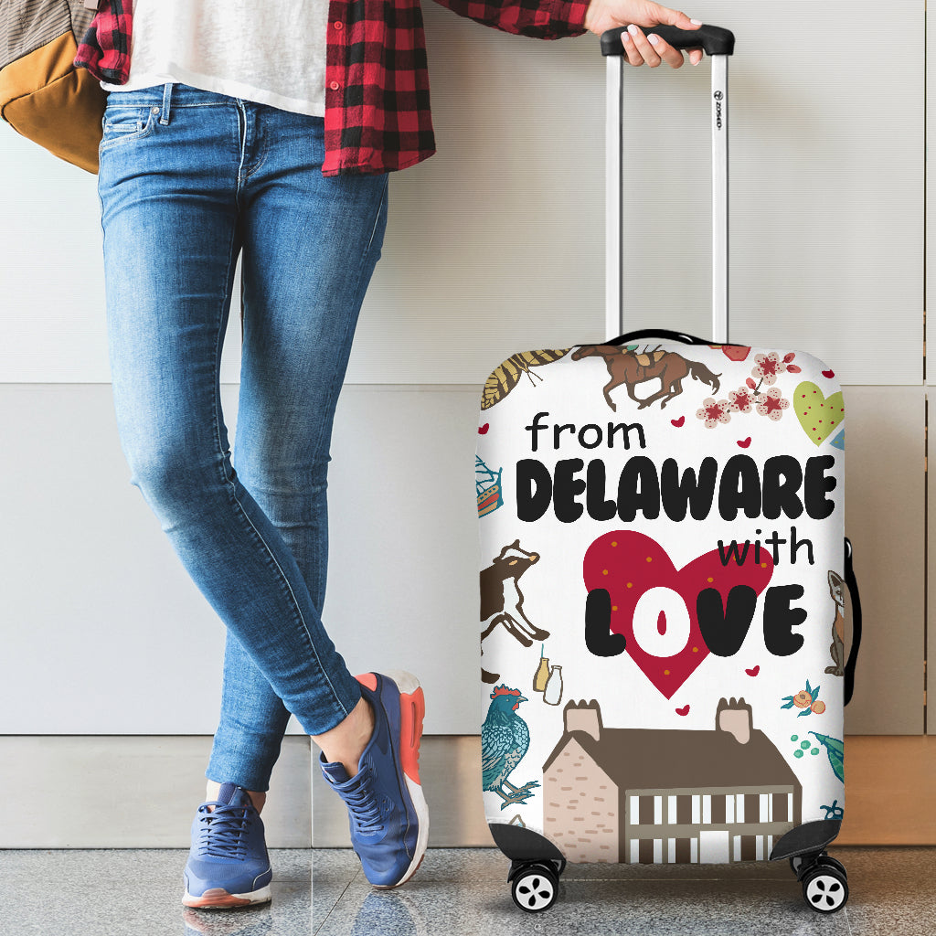 FROM DELAWARE WITH LOVE LUGGAGE COVER