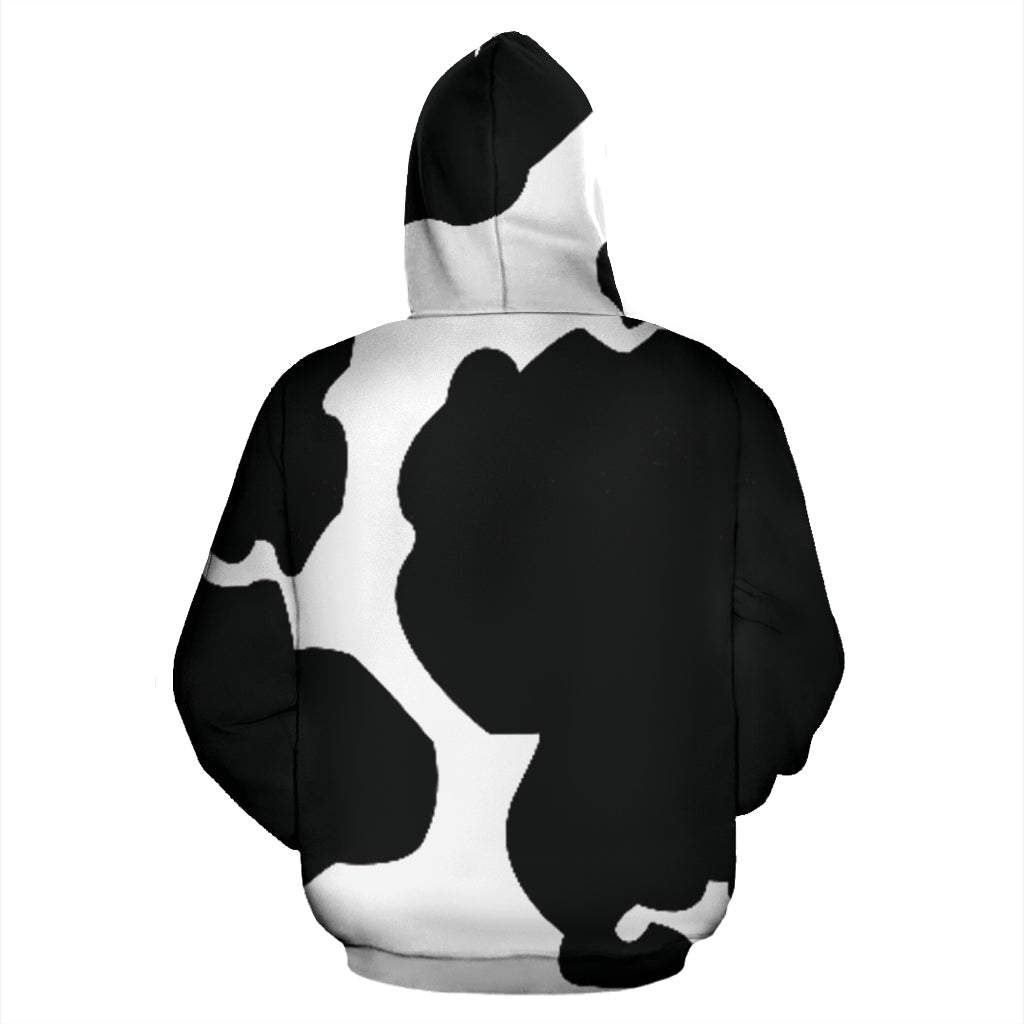 Cow All Over Face Hoodie